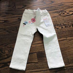 Gymboree 2t ivory corduroy pants